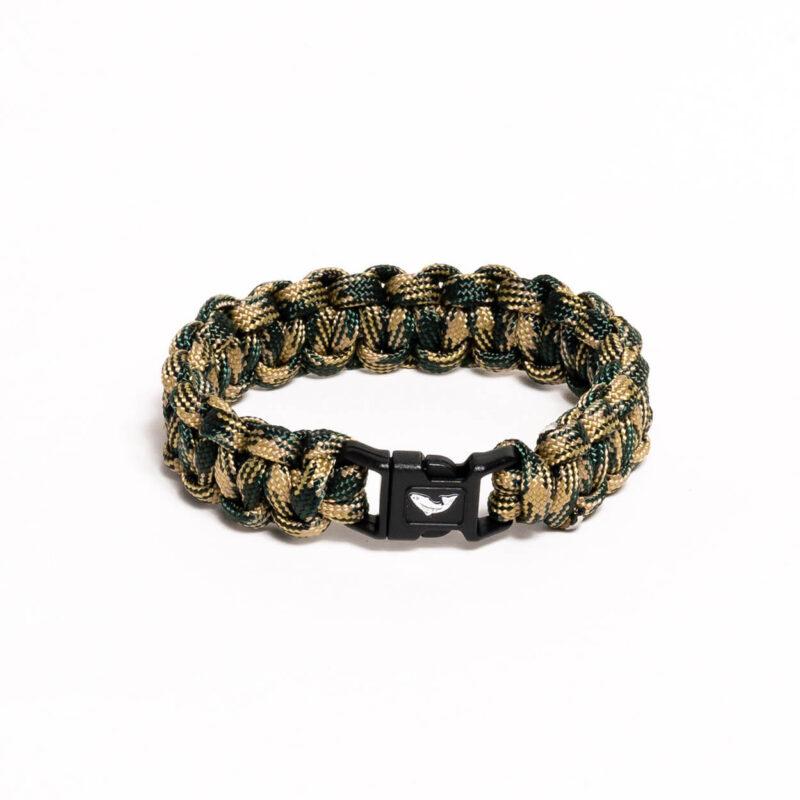 Paracord Bracelet – Woodland Camo