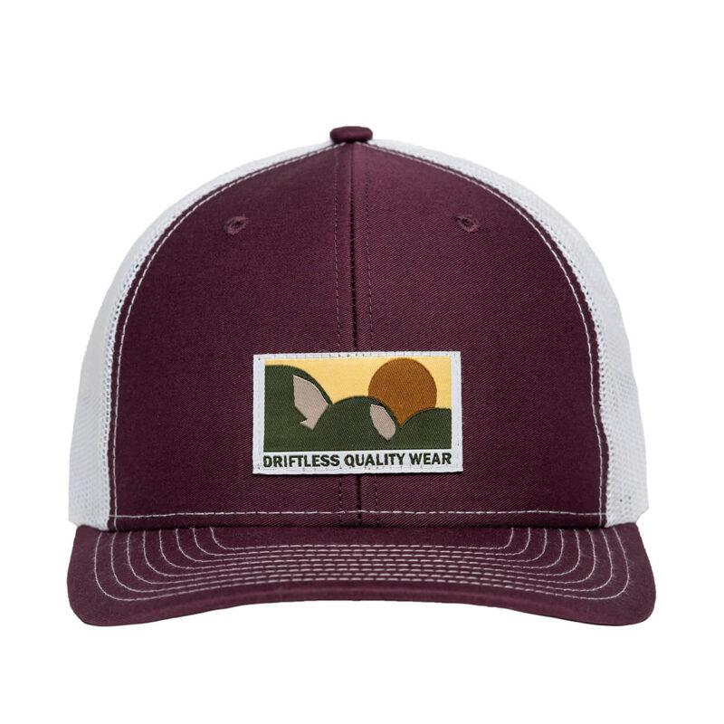 Backcountry Snapback – Maroon/White